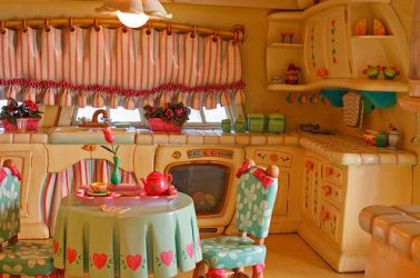 kitchen whimsical disney fairy tale mouse cartoon kitchens minnie houses simpsons pink fantastic cabinets visit stuff wonderful storybook heart