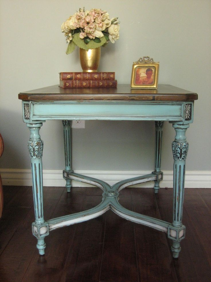 Painted Furniture Table Blue European Paint Finishes