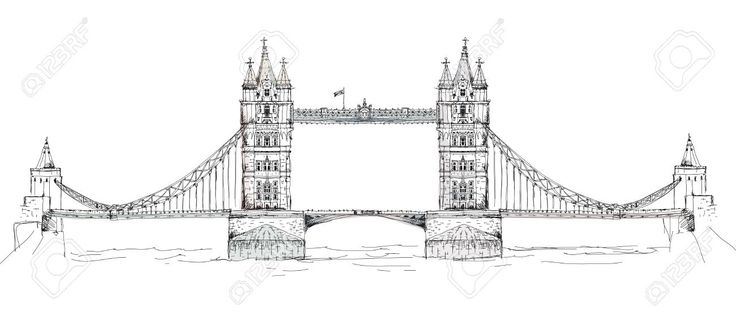 Sketch Collection Of Famous Buildings. London, Tower
