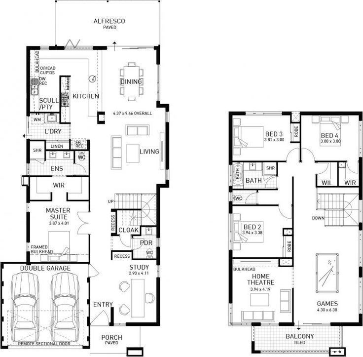 25 Best Ideas About Double Storey House Plans On Pinterest
