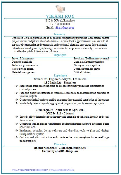 free resume template first job