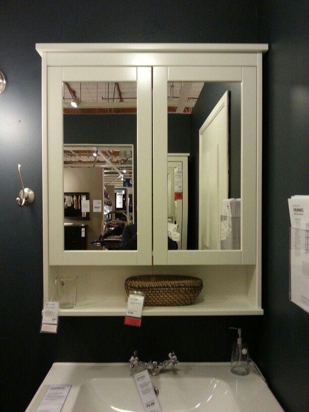 IKEA HEMNES mirror cabinet with 2 doors 170 also in blackbrown stain  bathroom ideas