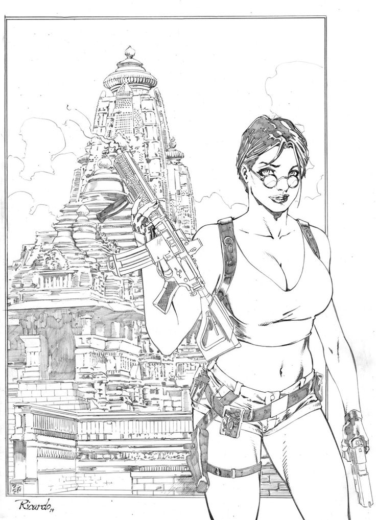 Tomb Raider Game Coloring Pages Coloring Pages