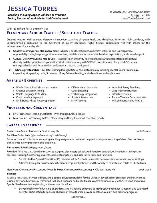 1000 ideas about Teacher Resume Template on Pinterest  Teacher Resumes Teaching Resume and