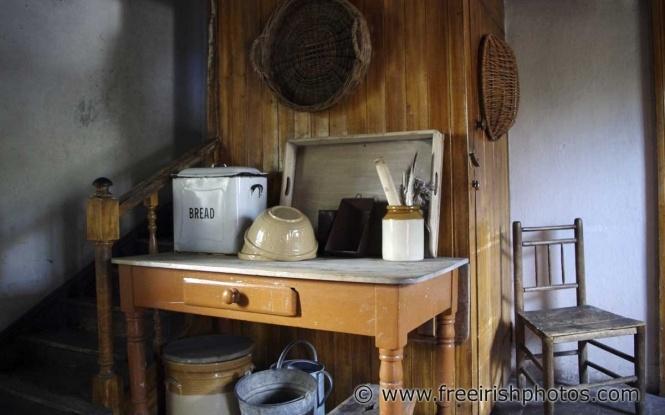 Irish Cottage INTERIORS Old Kitchen Table Inside An Old