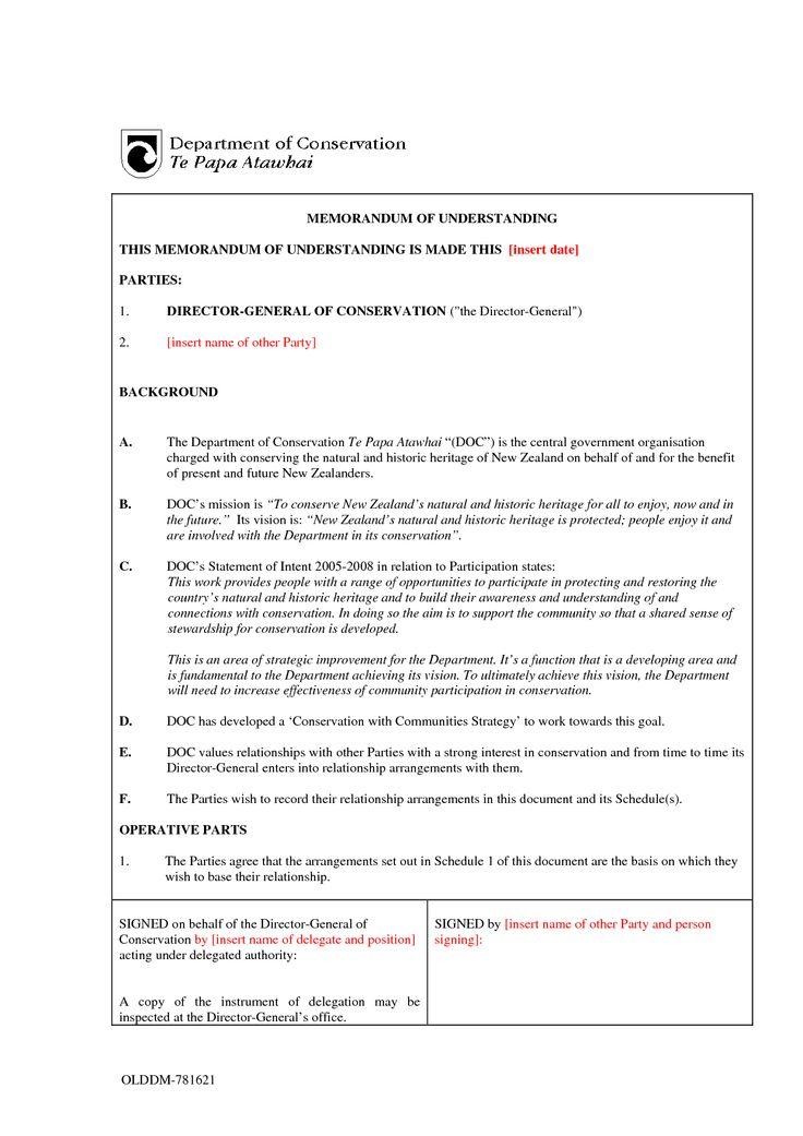 Mou Sample Invitation Templates Memorandum Of