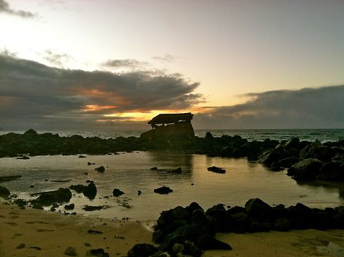 Old WWII bunker on a beach in Pa39la Maui History