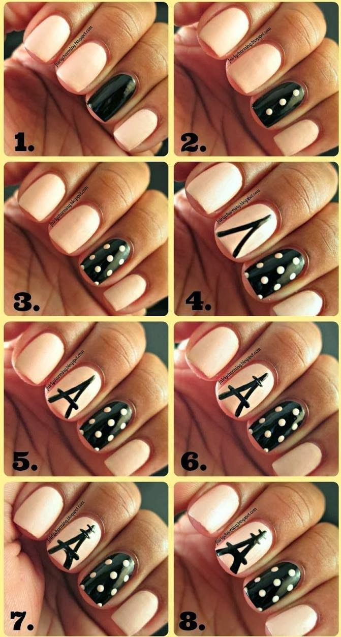 Chic Nail Tutorials for the Week – Pretty Designs @Katie Rorrer but without the middle finger design