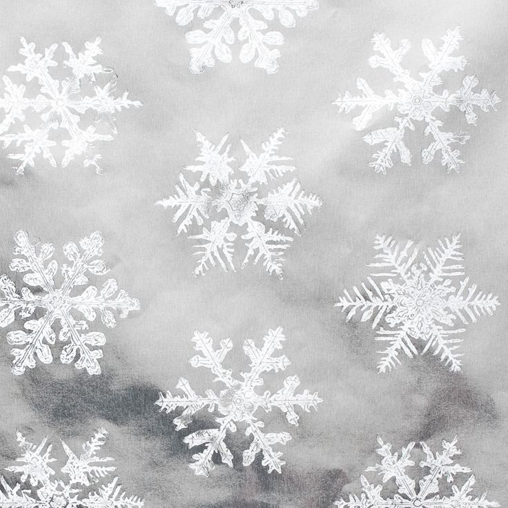 Silver Foil Snowflakes Roll Wrap Snowflakes Wraps And