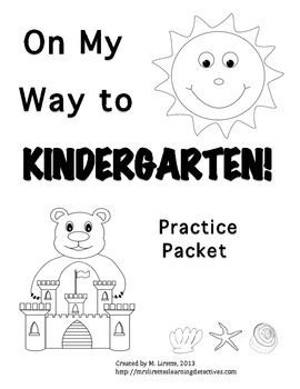 On My Way to Kindergarten! Pre-K Review/Early K Practice