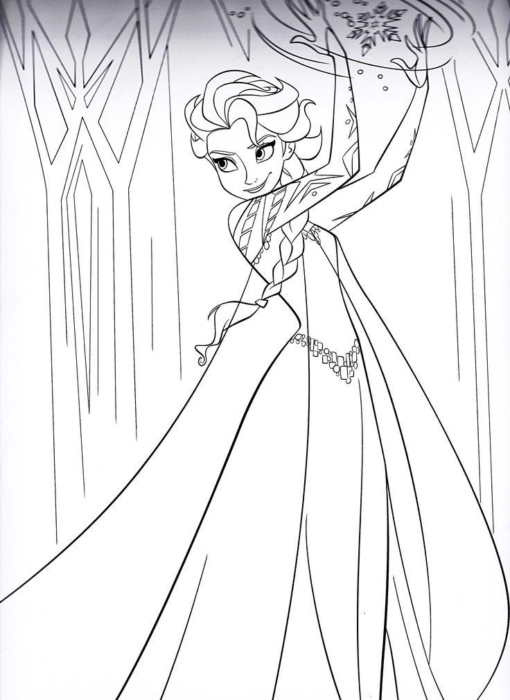 Walt-Disney-Coloring-Pages-Queen-Elsa-walt-disney