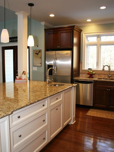 Updating a traditional cherry kitchen  Kitchen