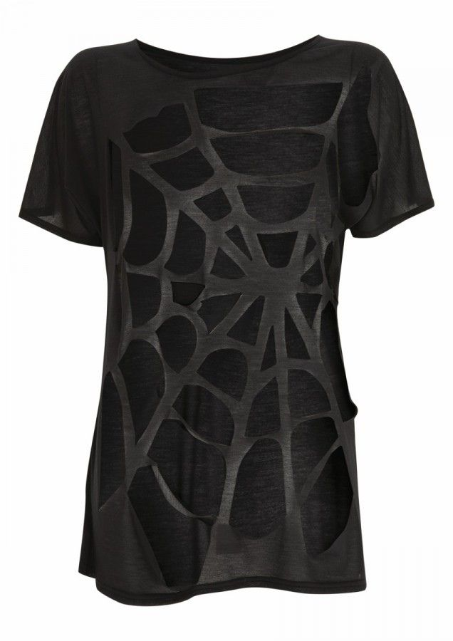 T shirt cut design Make lines with painters tape and then cut out spaces  So Can You Sew