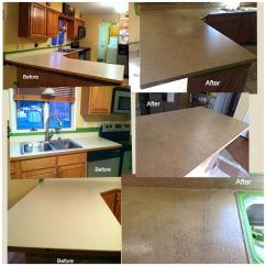 Kitchen Countertop Resurfacing Cabinet Slides Resurfaced My Counters With The Spreadstone ...