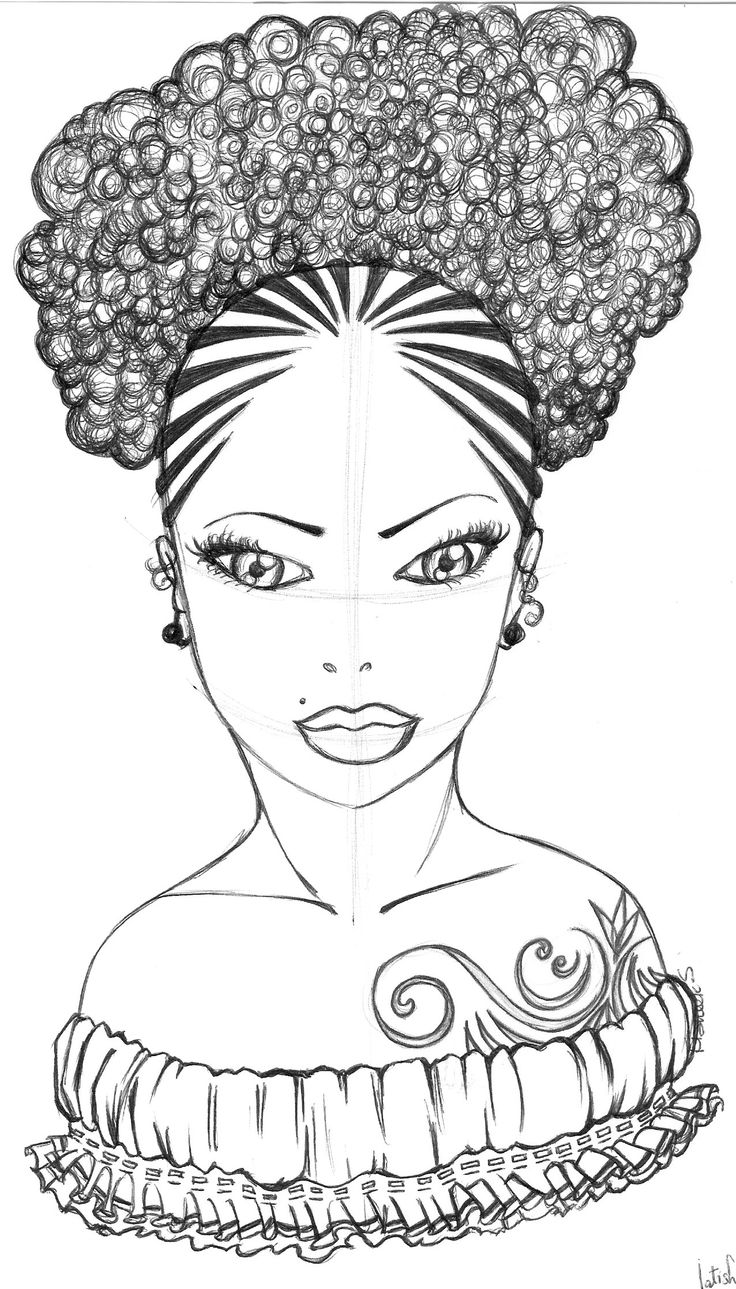 F African American Coloring Pages