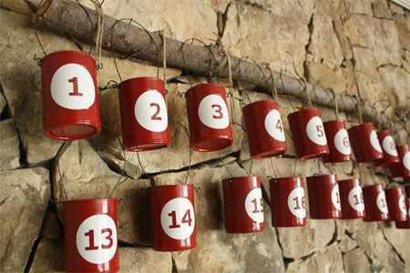 Recycled Tin Can Advent Calendar and 50 family activities #skiptomylou: