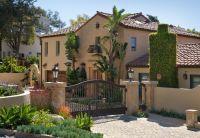 Front yard  driveway  front gate  Mediterranean style ...