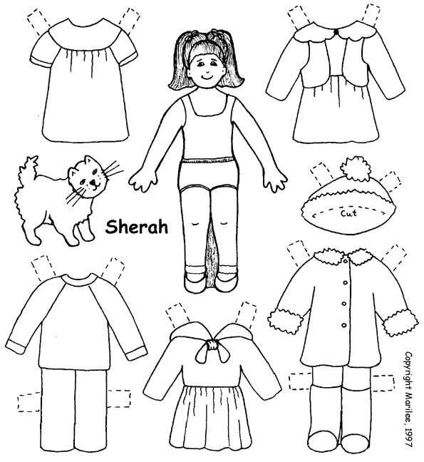 1011 best images about B W PAPERDOLL I on Pinterest
