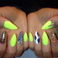 Nail Art Stiletto nails neon | Nail Art | Pinterest | Nail ...