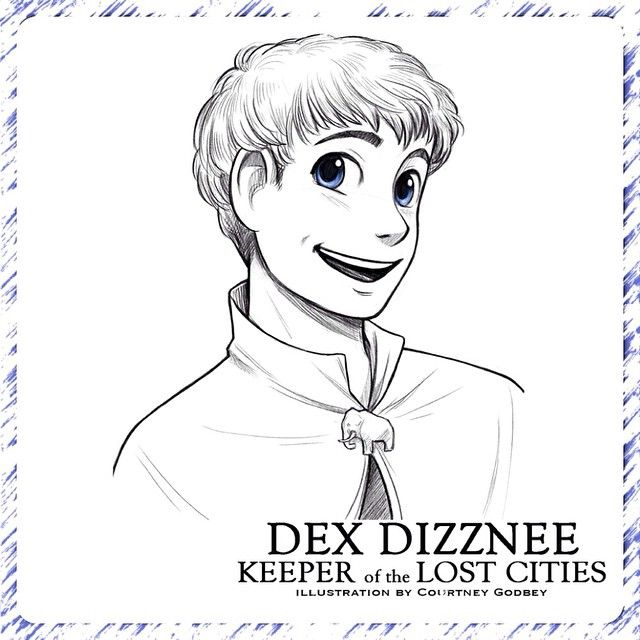 Dex, from the KEEPER OF THE LOST CITIES series, as drawn