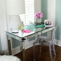 Mirrored desk and ghost chair. Trs chic! | Home Office ...