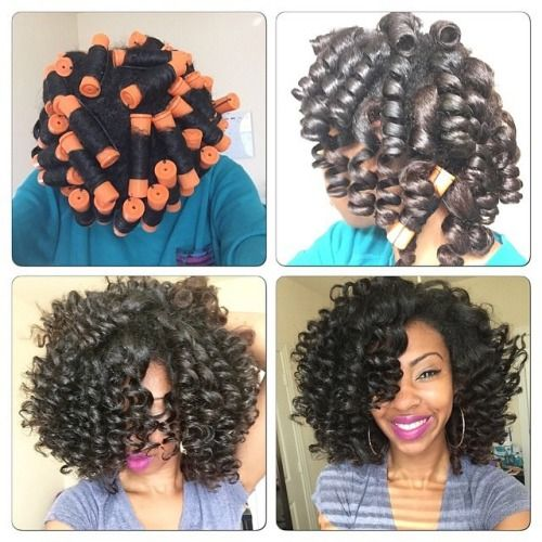 157 Best Images About Roller Set On Natural Hair On Pinterest