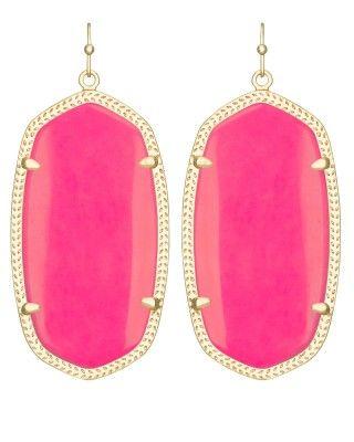Danielle Earrings in Neon Pink