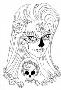 Sugar Skull Coloring Pages | Coloring pages for Adults ...