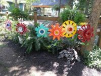 1000+ images about Hubcap Flower Garden on Pinterest