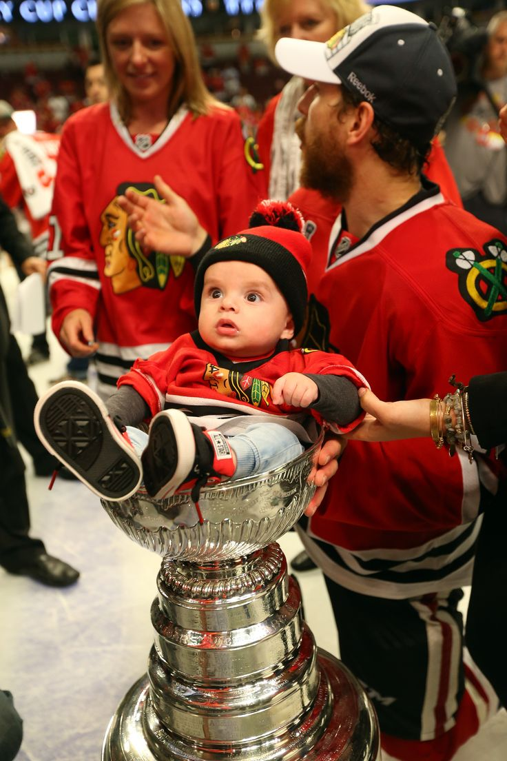Andrew Desjardins Places His Son In The Stanley Cup