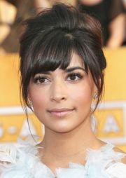 bangs updo ideas