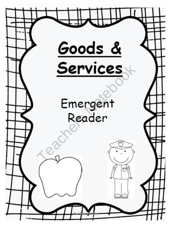 Goods and Services product from The-Teacher-Fairy on