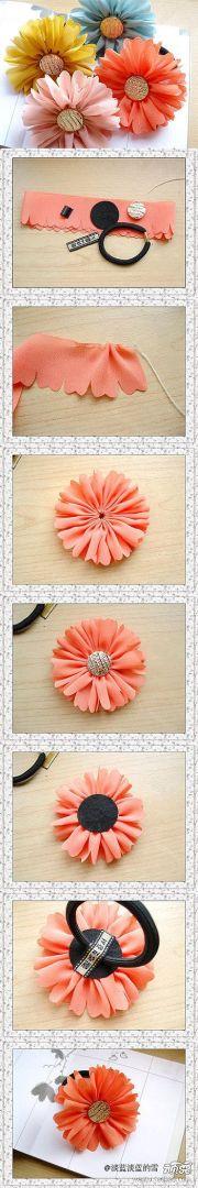ideas fabric flower