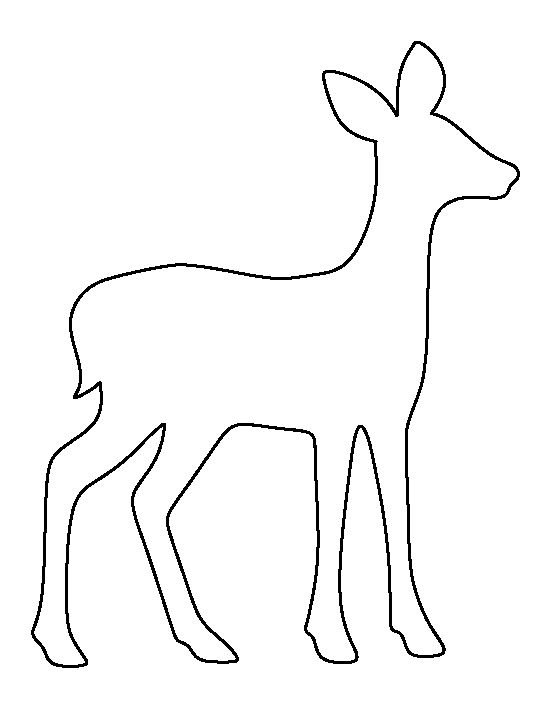 Fawn pattern. Use the printable outline for crafts