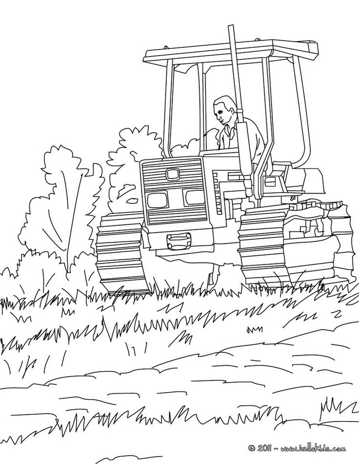 Best 25 Tractor Coloring Pages Ideas