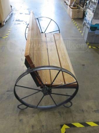 Metal wagon wheel bench  AG mechanics projects