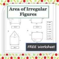 Area Of Irregular Figures Worksheet 4th Grade