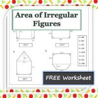 Area Of Irregular Figures Worksheet 4th Grade - geometry ...