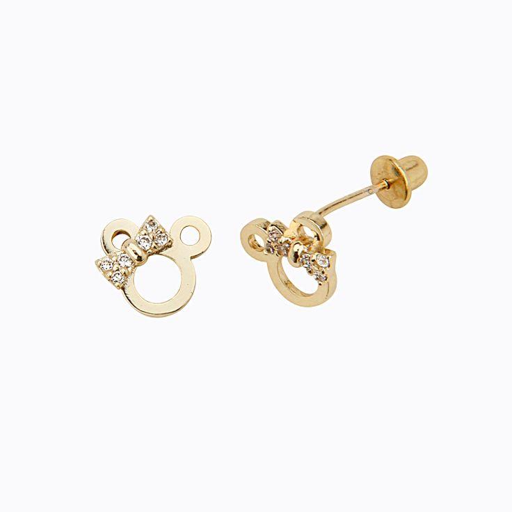 14K Gold Minnie earrings