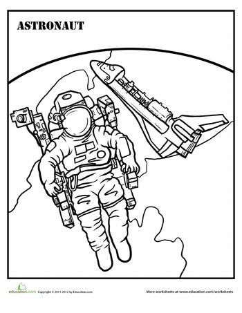 Astronauts, Worksheets and Coloring pages on Pinterest