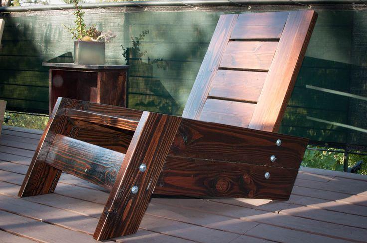 SO RAFAEL modern/vintage reclaimed wood deck chair