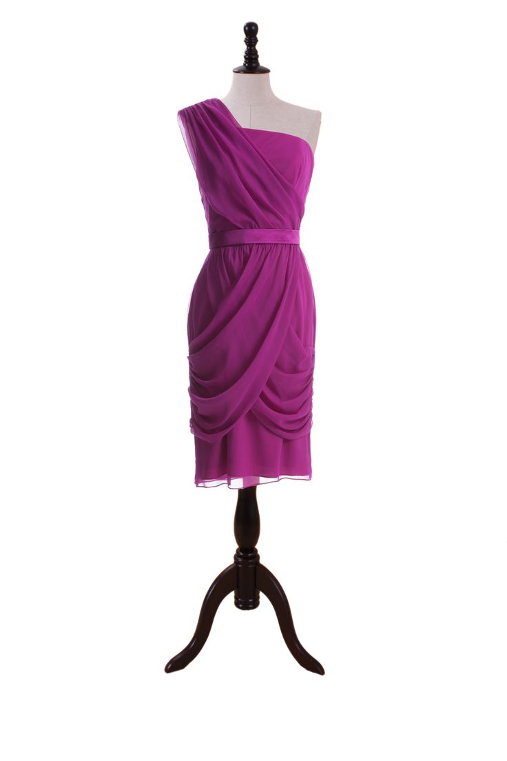 Draped One Shoulder Dress