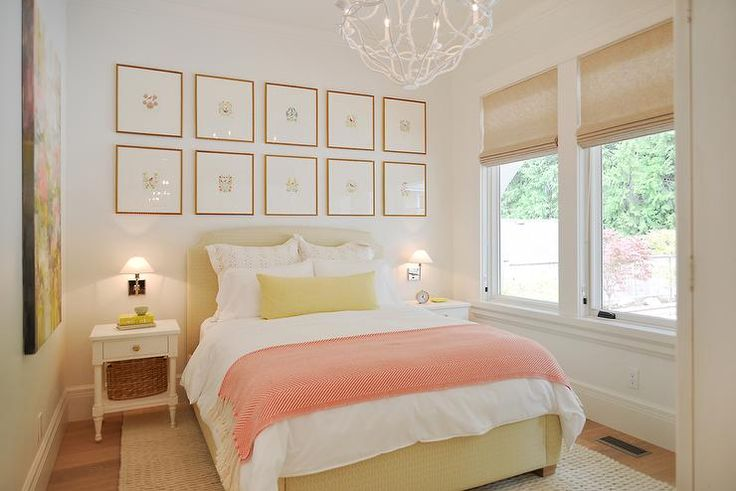 Baby Girl Bedroom Wallpaper Yellow And Pink Bedroom Features A Stacked Art Gallery