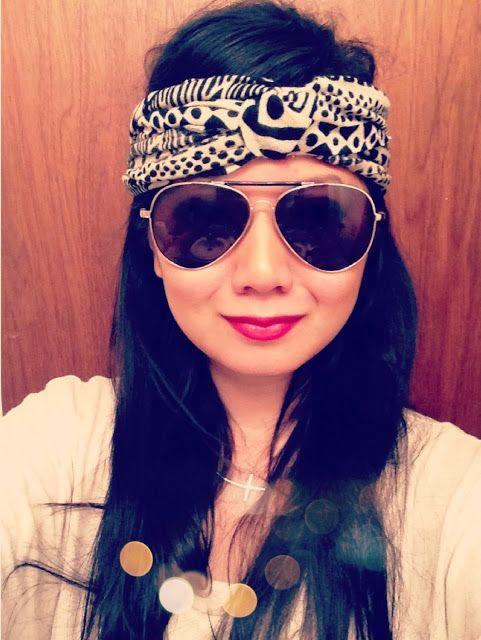 For wrangling backpacking hair Turban Headband DIY – no sew
