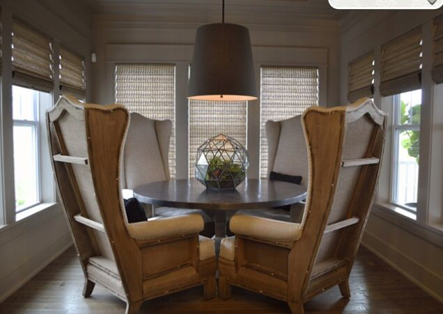 Tall wingback chairs dining table  i n t e r i o r