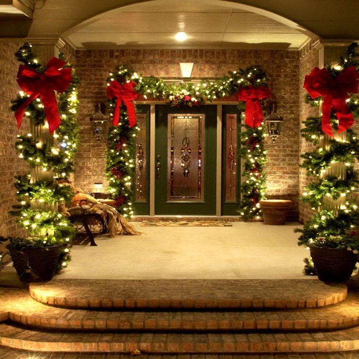 25 Best Ideas About Christmas Porch Decorations On Pinterest