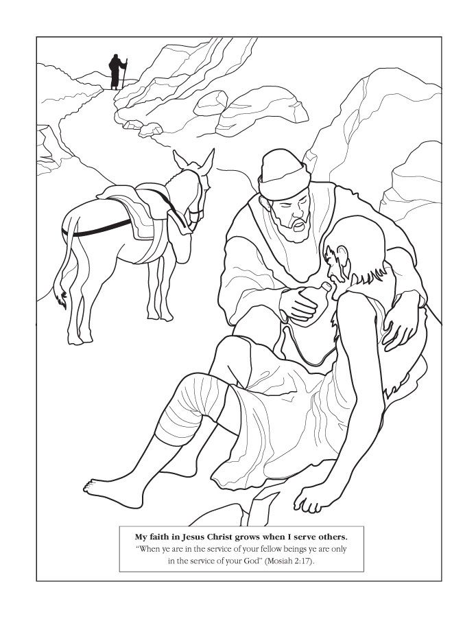 Bible coloring pages, Helping others and Coloring pages on