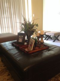 Ottoman tray decor---very beautifully done sis | home ...