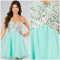 Cute teal short prom dress | Prom | Pinterest | Teal ...