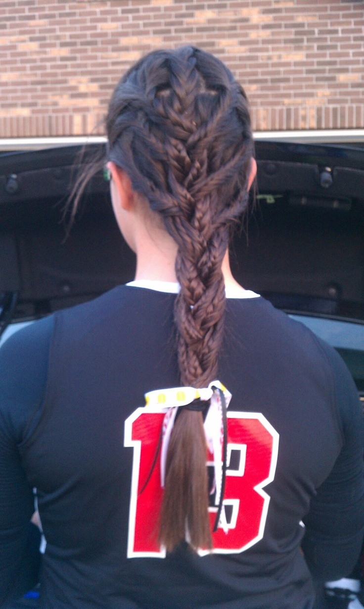 The 27 Best Images About Softball Hairstyles On Pinterest Sporty